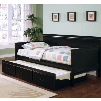Sangiacomo Daybed with Trundle Color: Black