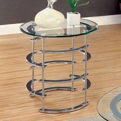Fuhr End Table Table Base Color: Chrome