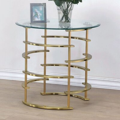 Fuhr End Table Table Base Color: Gold
