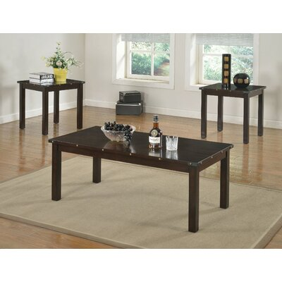 Mckinnie Retro Wooden 3 Piece Coffee Table Set