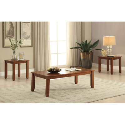 Kinman Wooden 3 Piece Coffee Table Set Color: Cherry