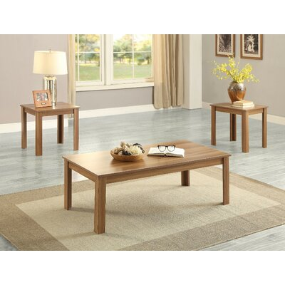Kinman Wooden 3 Piece Coffee Table Set Color: Oak
