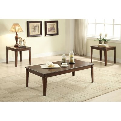 Kinman Wooden 3 Piece Coffee Table Set Color: Walnut