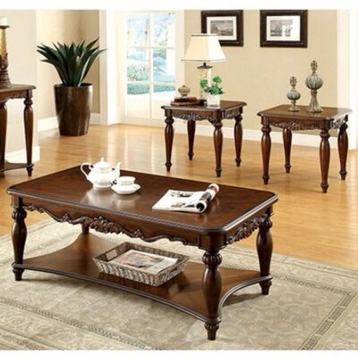 Freman Wooden 3 Piece Coffee Tables Set
