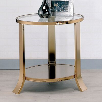 Grodin Elegantly Stylized End Table