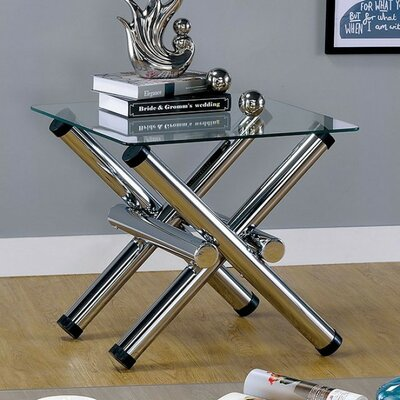 Schaubert Cross Legged Stylized Sturdy End Table