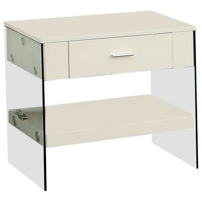 Mcnear End Table with Storage Color: White