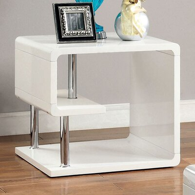 Franich End Table Color: White