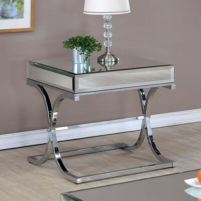 Fruge End Table Color: Chrome