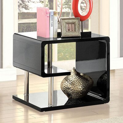 Franich End Table Color: Black