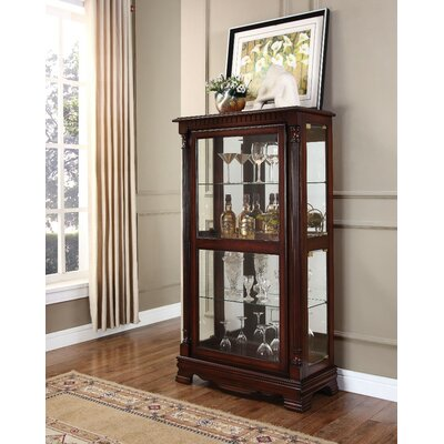 Gaelle Wood and Glass Curio Cabinet