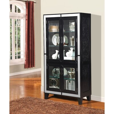 Komarek Wooden Curio Cabinet Color: Black