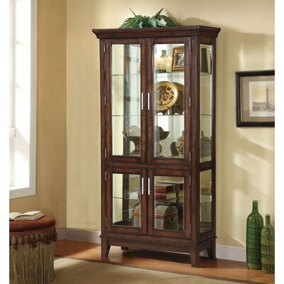 Komarek Wooden Curio Cabinet Color: Cherry Brown