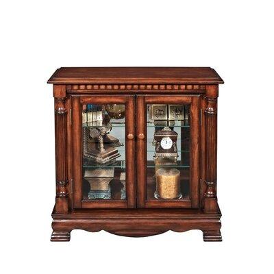 Gaetan Flat Top Wooden Curio Cabinet