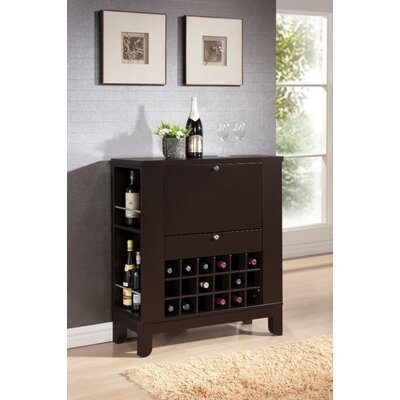 Kinnear Wooden Bar with Wine Storage