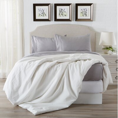 Konjoian Luxury Ultra Soft Rayon from Bamboo Pillowcase Color: Paloma Gray