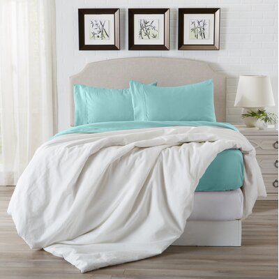 Konjoian Luxury Ultra Soft Rayon from Bamboo Pillowcase Color: Pastel Turquoise