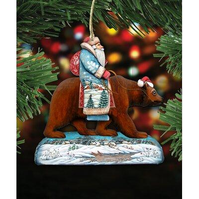 Santa on Grizzly Bear Hanging Figurine B53F98DD8D8D414489D152AF8FCF0E53