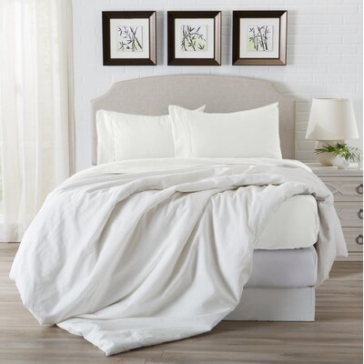 Eacuello Luxury Ultra Soft  Rayon from Bamboo Pillowcase Color: Snow