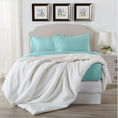 Eacuello Luxury Ultra Soft  Rayon from Bamboo Pillowcase Color: Pastel Turquoise