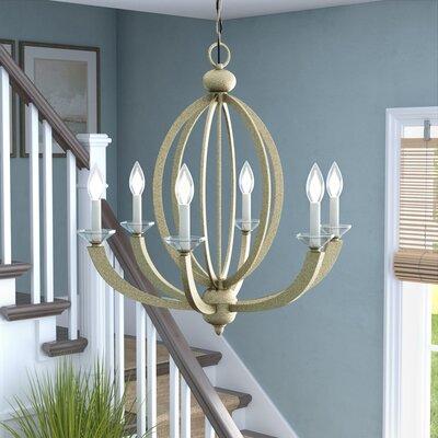 Bemot 6-Light Candle-Style Chandelier Color: Gold Dust