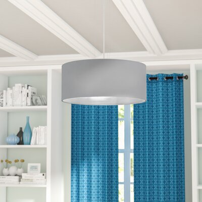 Newville 3-Light Drum Pendant Shade Color: Gray/Silver