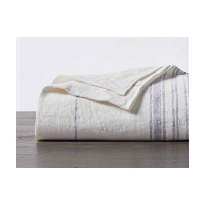 Rustic Linen Sham Size: Euro, Color: Alpine White/Pale Ocean/Pewter