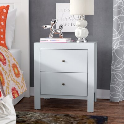 Brennen 2 Drawer Nightstand Color: White