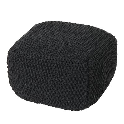 Mabe Knitted Square Pouf