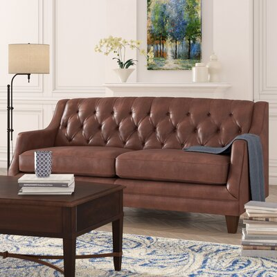 Kashvi Leather Sofa Upholstery: Steamboat Driftwood