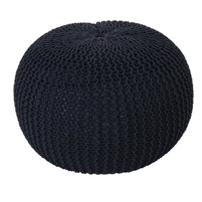 Mabery Knitted Pouf Upholstery: Dark Blue