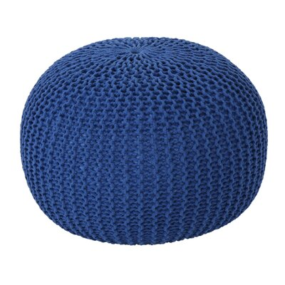 Mabery Knitted Pouf Upholstery: navy