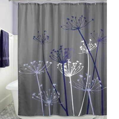 Thistle Shower Curtain Color: Gray/Purple