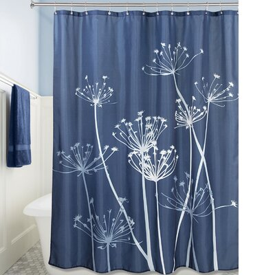 Thistle Shower Curtain Color: Navy