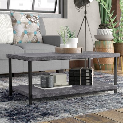Vlad Slate Faux Concrete Coffee Table