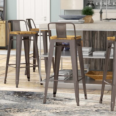 Ellery 30 Bar Stool Finish: Gunmetal
