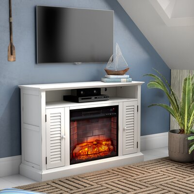 Lombardy 48 TV Stand with Fireplace Finish: Distressed Antique White