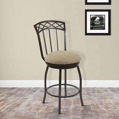 East Clevedon 26 Swivel Bar Stool Upholstery: Cancun Bronze