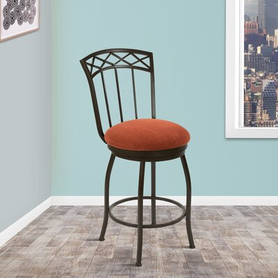 East Clevedon 26 Swivel Bar Stool Upholstery: Sonoma Terracotta