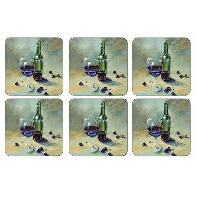 A Glass Half Full Square Coaster 2010268897