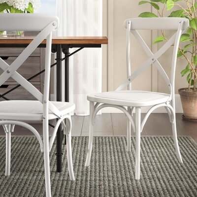 Lison Dining Chair Color: French White