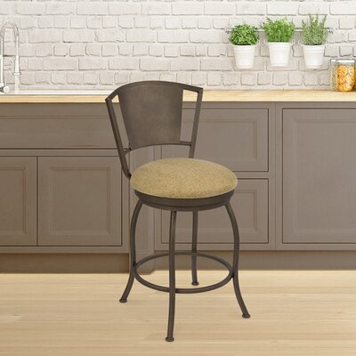 Kieninger 26 Swivel Bar Stool Frame Color: Copper Bisque, Seat Color: Cobra Latte