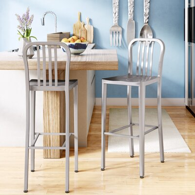 Fairmount 30 Bar Stool Finish: Silver