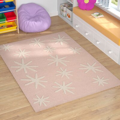 Claro Starbursts Hand-Tufted Pink Area Rug Rug Size: Rectangle 5 x 7