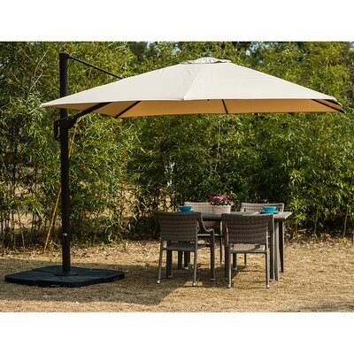 Image of Lia 10' Cantilever Umbrella Fabric Color: Beige
