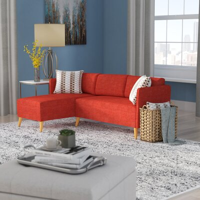 Ferrel Sectional Color: Muted Orange