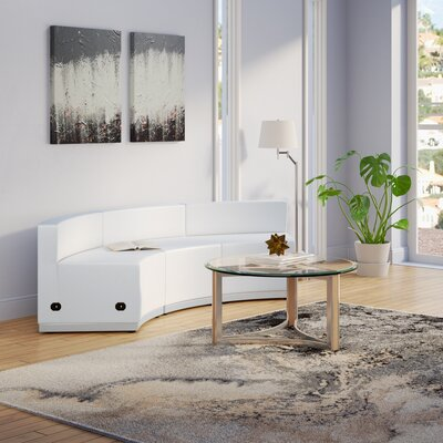 Krysten Sectional Upholstery: White