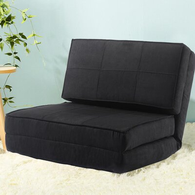 Holmin Flip Out Lounger Convertible Chaise Lounge Upholstery: Black