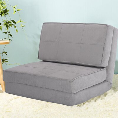 Holmin Flip Out Lounger Convertible Chaise Lounge Upholstery: Gray