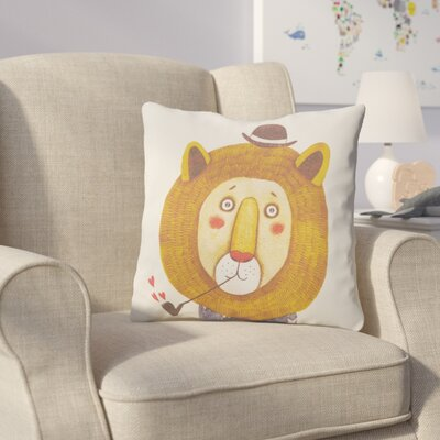 Cooke Lion Cotton Throw Pillow